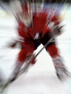 Zoom Explosion View of Ice Hockey Player by Paul Sutton