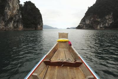 Boat Moving through Khao Sok National Park