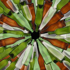 Bottles in Shape of Iris by Paul Taylor