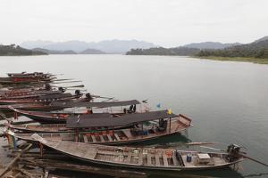 Docked Boats, Khao Sok National Park by Paul Taylor