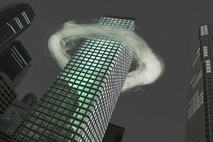 Ring of Vapor around Building by Paul Taylor