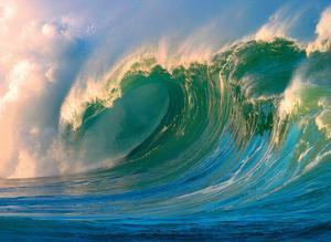 Morning Light Hawaii - Big Surf - Breaking Wave by Paul Topp