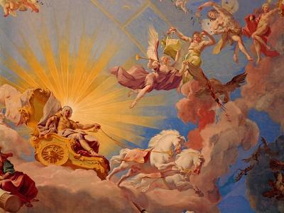 "Ceiling fresco "" Apotheosis of Emperor Karl VI"" (1685-1740)"