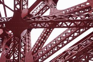 Detail of Broadway Bridge in Portland, Oregon by Paul Vozdic