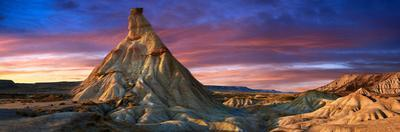 Castildeterra Rock Formation, the Bardena Blanca Area of the Bardenas Riales Natural Park, Spain by Paul Williams