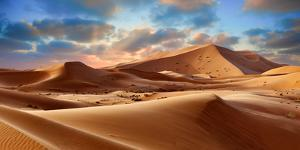 Sahara Sand Dunes of Erg Chebbi, Morocco, Africa by Paul Williams