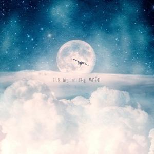 Moonrise Over the Clouds by Paula Belle Flores