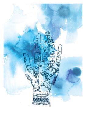 Blue Wash Hand by Paula Mills