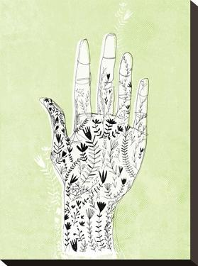 Floral Hand Green by Paula Mills