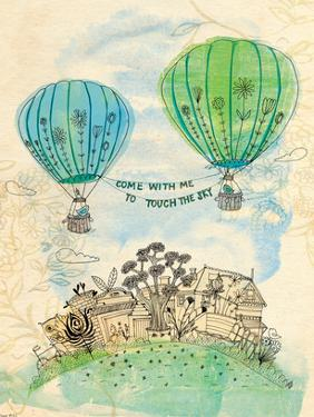 Touch The Sky Green And Blue by Paula Mills