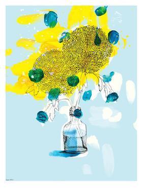 Yellow Flowers by Paula Mills