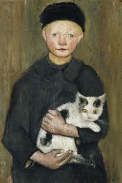 Boy with Cat by Paula Modersohn-Becker