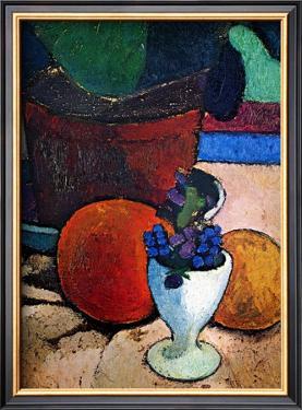 Flower Pot and Fruit by Paula Modersohn-Becker