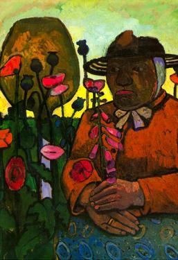 Paula Modersohn-Becker Old Woman in the Garden Art Print Poster