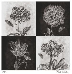 Etched Florals by Paula Scaletta