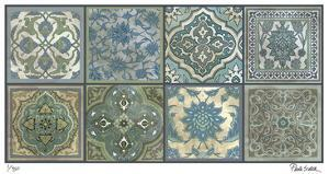 Moroccan Tiles - Silver by Paula Scaletta