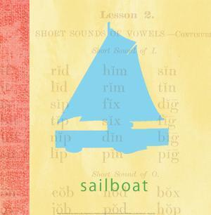 Vintage Toys Sailboat by Paula Scaletta