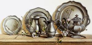 Pewter with Apple Blossom by Pauline Eblé Campanelli