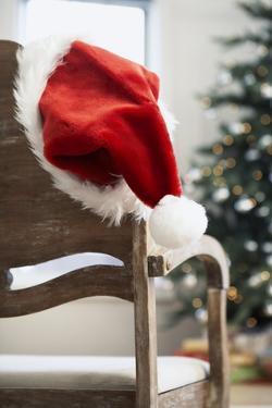 Santa Hat on Chair by Pauline St. Denis