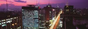 Paulista Avenue in the Evening, Sao Paulo, Brazil