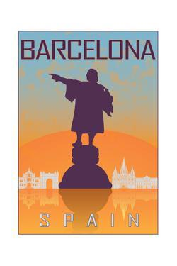 Barcelona Vintage Poster by paulrommer