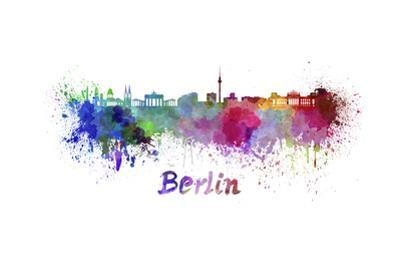 Berlin Skyline in Watercolor by paulrommer