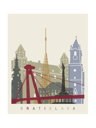 Bratislava Skyline Poster by paulrommer