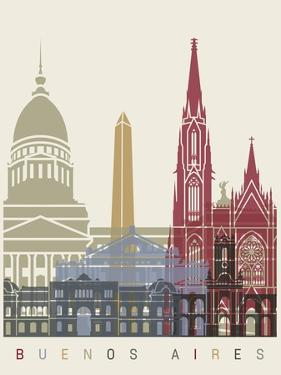 Buenos Aires Skyline Poster by paulrommer