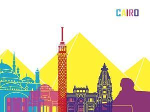Cairo Skyline Pop by paulrommer