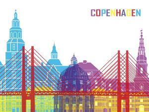 Copenhagen Skyline Pop by paulrommer