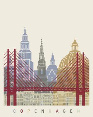 Copenhagen Skyline Poster by paulrommer