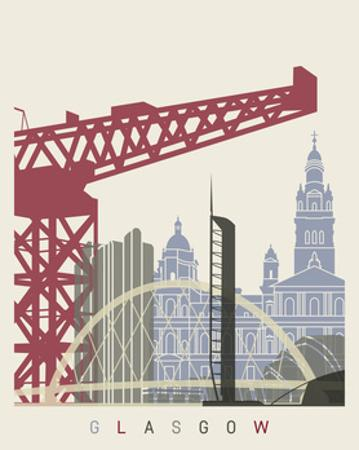 Glasgow Skyline Poster by paulrommer