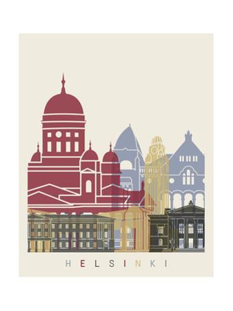 Helsinki Skyline Poster by paulrommer
