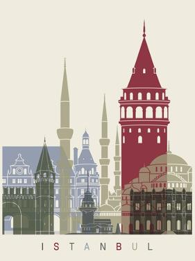 Istanbul Skyline Poster by paulrommer