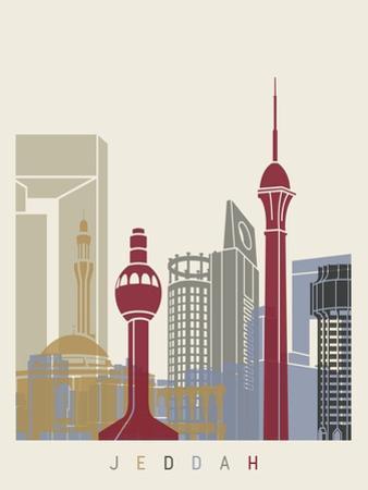 Jeddah Skyline Poster by paulrommer
