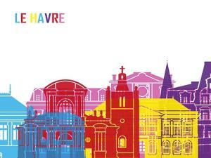 Le Havre Skyline Pop by paulrommer