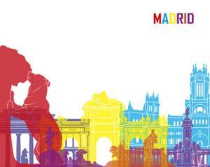 Madrid Skyline Pop by paulrommer