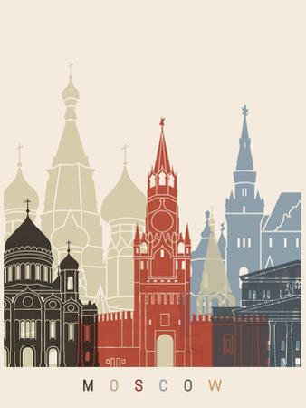 Moscow Skyline Poster by paulrommer