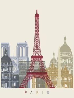 Paris Skyline Poster by paulrommer