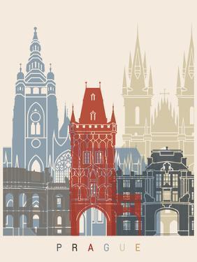 Prague Skyline Poster by paulrommer