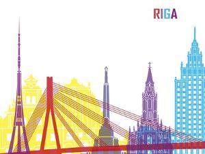 Riga Skyline Pop by paulrommer