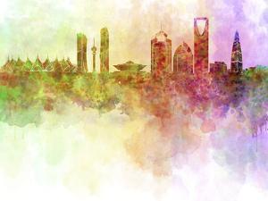 Riyadh Skyline in Watercolour Background by paulrommer