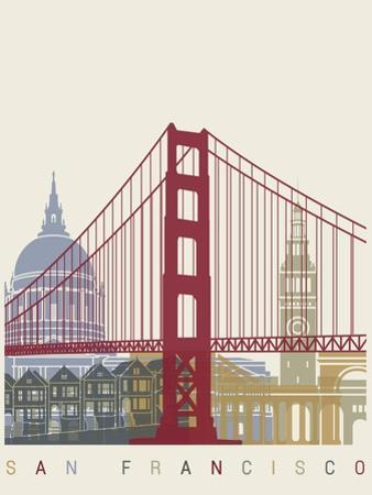 San Francisco Skyline Poster by paulrommer