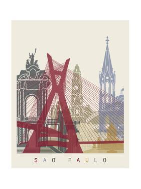 Sao Paulo Skyline Poster by paulrommer