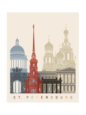 St Petersburg Skyline Poster by paulrommer