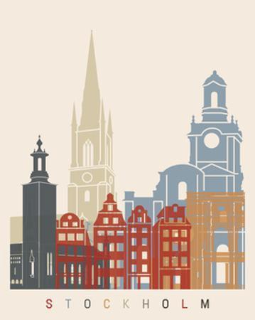Stockholm Skyline Poster by paulrommer