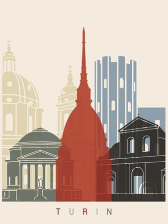 Turin Skyline Poster by paulrommer