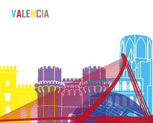 Valencia Skyline Pop by paulrommer