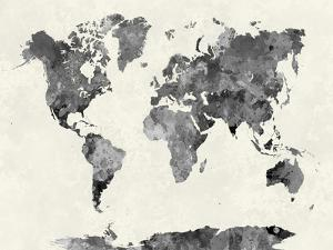 Map posters for sale at allposters world map in watercolor graypaulrommer gumiabroncs Image collections