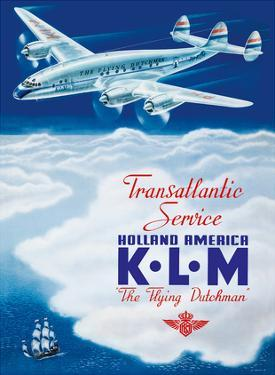 KLM Transatlantic Service - Holland America - KLM Royal Dutch Airlines by Paulus C. Erkelens